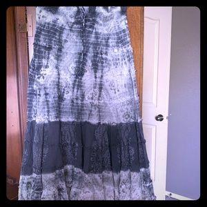 Boho light gauzy skirt